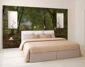 Wall Mural Woods, Forest Wallpaper, Woods Wall Decal, Woods Wall Mural, Trees Wall Decal