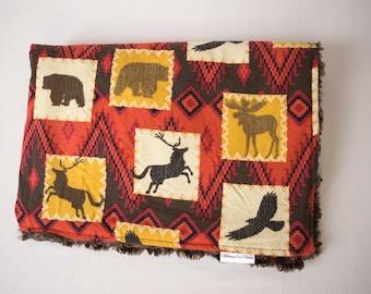 Woodland ~ Animals ~ Faux Fur Minky ~ Baby Blanket ~ Toddler blanket