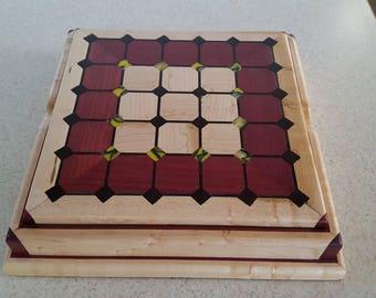 Tak box set made from purple heart,birdseye maple,wenge,and acrylic