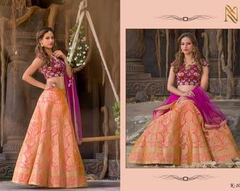 Readymade Bridal Banarasi Silk Lehenga Choli/pink purple /Lehenga choli/ Ethanic wear/ Indian wear/Wedding wear/Chaniya choli/Garba