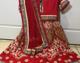 Bridal Lehenga Choli/Readymade stitched /Lehenga choli/ Ethanic wear/ Indian wear/Wedding wear
