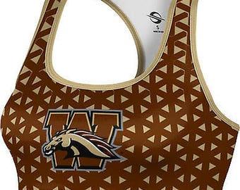 ProSphere Women's Western Michigan University Geometric Sports Bra (WMU)