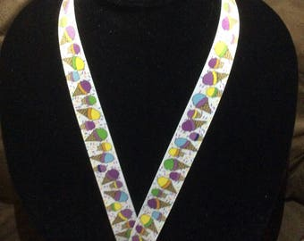 Ice Cream Cone Lanyard