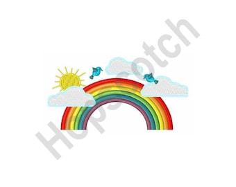 Rainbow - Machine Embroidery Design