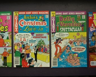 Archie Giant Series Magazines Lot of 3 and a Betty and Veronica Comic Book Numbers 482, 483, 490 and 255