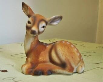 Vintage Deer Fawn Porcelain Figurine  - Wildlife Deer by Dept 20-57 – No. 962324-300