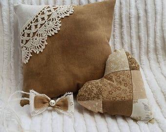 Light Brown Newborn Photo Prop Pillow Set