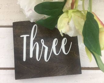 Wedding Table Numbers-table Numbers-Rustic Wood table Numbers-Wood Block Table Number-