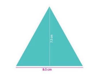 Removable adhesive. triangle