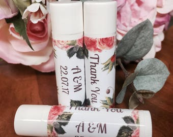 SETS OF 25+ | Personalised Lip Balm Wedding Favours