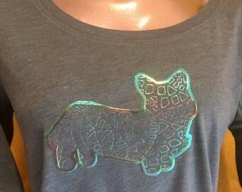 Corgi mandala long sleeve t-shirt