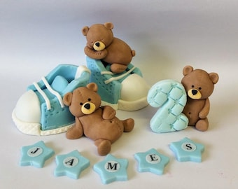 3 bears  cake toppers edible  personalised decoration