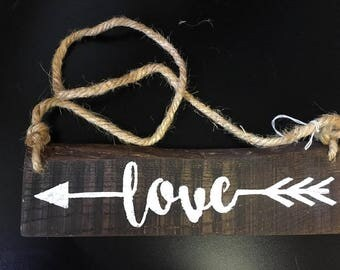 Scrap Wood Love Sign