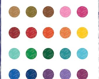 Circle Polka Dot Shapes Digital Download Clipart