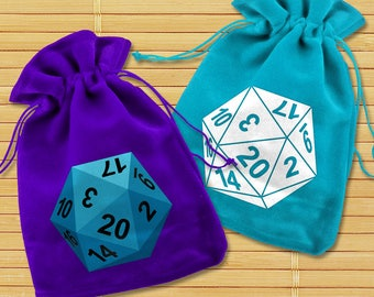 20 Sided Dice SVG File Cutting Template Set