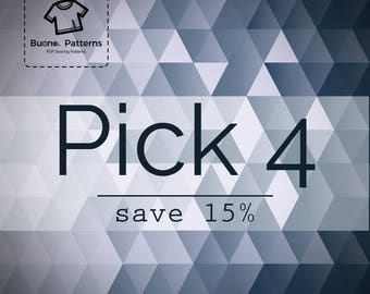 Pick any 4 PDF patterns you like and save 15%