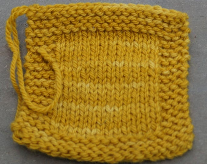 Mustard 3 ply worsted weight wool yarn