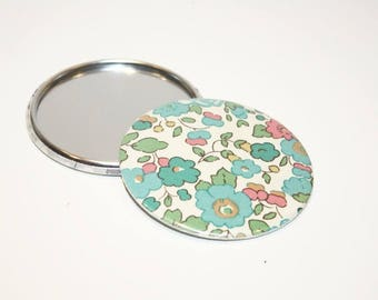 75 mm Liberty Betsy turquoise Pocket mirror