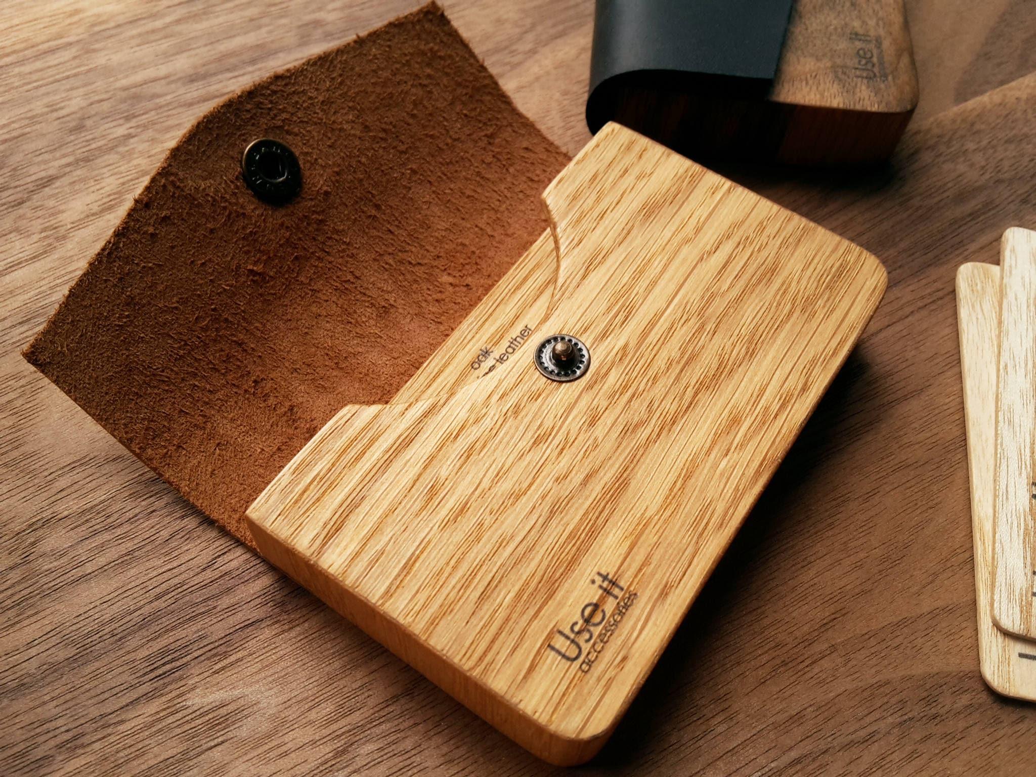 Wooden cardholder, Business card holder, Wooden card holder, Wooden ...