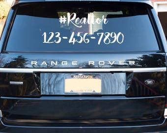 Realtor Car Decal | Real Estate Agent Car Decal | Custom Decal | Marketing Decal | Realtor | Real Estate | Mortgage Decal