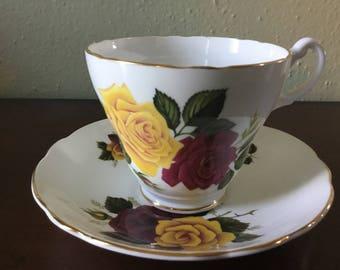 Royal Ascot Rose Teacup with Saucer