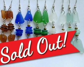 Sea Glass Earrings!