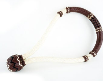 Handmade Western Horse Pleasure Trail Brown & White 12 Plait Rawhide Leather Bosal Tack