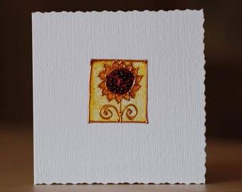 Sunflower - Handmade Card