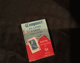 Classical Composer photographs playing cards NEW  in cellophane ,vintage