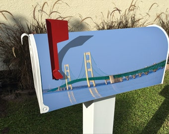 Mackinac Bridge Magnetic Mailbox Cover