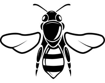 Bee Bumblebee Wasp Insect Honey Honeycomb Honeybee .SVG .EPS .PNG Instant Digital Clipart Vector Cricut Cut Cutting Download Printable File