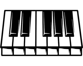 Piano #1 Keyboard Electric Sheet Music Musical Note Symbol Classical Logo .SVG .EPS .PNG Digital Clipart Vector Cricut Cut Cutting Download