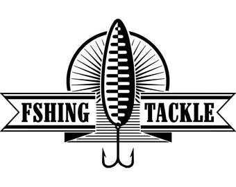Fishing Logo #14 Fisherman Angling Fish Hook Fresh Water Hunting Tournament Competition Contest.SVG .EPS .PNG Vector Cricut Cut Cutting File