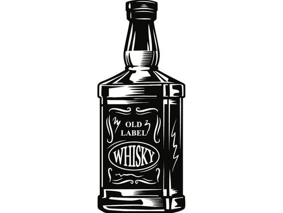 Alcohol bottle 7 whiskey liquor drink drinking western salon for Liquor bottle art