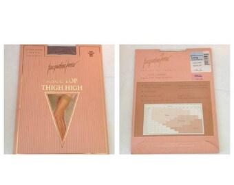 On Sale Vintage Jacqueline Ferrar Lace Top Thigh High Stockings