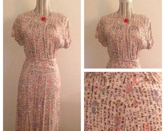 Anniversary Sale Gorgeous Vintage Print Dress