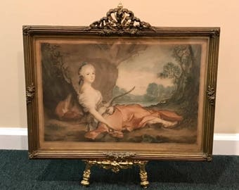 S. Arlent Edwards Antique Framed Lithograph