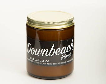 100% Soy Wax Candle — Downbeach Blend 7oz