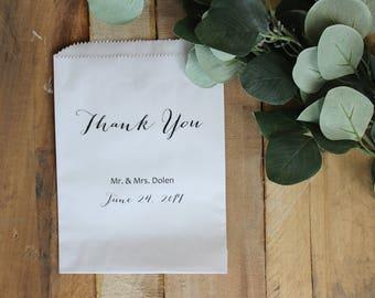 Wedding Favor Bags, Candy Buffet Bag, Thank You Treat Bag, Wedding Treat Bag, Wedding Favor, Party Bags    Set of 10