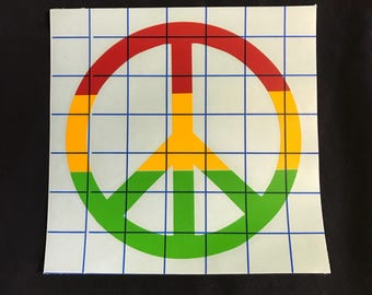 Reggae Peace sign decal /sticker