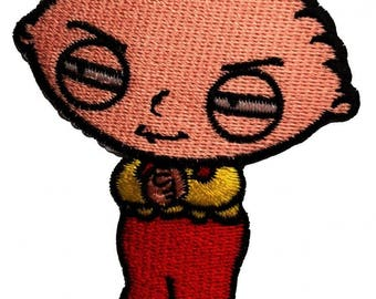 Patch/Ironing-Stewie Griffin-Red-6.6 x 7.7 cm-by catch-the-Patch ® patch appliqué applications for ironing application patches patch