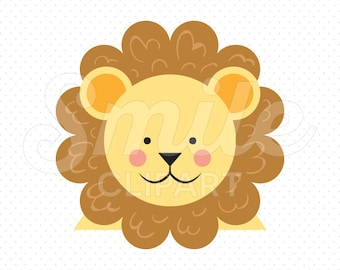 CUTE LION Clipart Illustration for Commercial Use   0081
