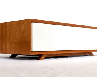 Bluetooth Speaker - MODERNO 40 - Wireless  - Mini Vacuum Tube High End Audio - Vintage Midcentury Modern - Mahogany Hard Wood