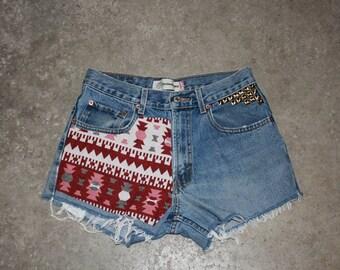 Custom High Waisted Vintage Short size 29