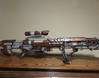 Steampunk Nerf Sniper Scope Working Toy Dart Gun Prop Costume Modified Accessory Ray Laser Blaster LARP Cosplay Role Play Fallout Weapon