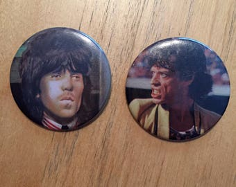 Mick Jagger Keith Richards  Pins  Badge Rolling Stones