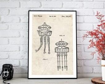 Printable Art, Star Wars print, Drone patent Poster, DIGITAL PRINTABLE poster, Home Decor, Instant DOWNLOAD, Nursery Decor, Office Art