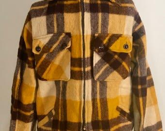 Rare 50s Vintage Plaid (Coast to Coast National Shirt Shop) All Wool Size Medium