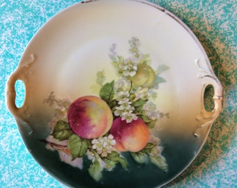 Two-Handle Peach Collector Plate