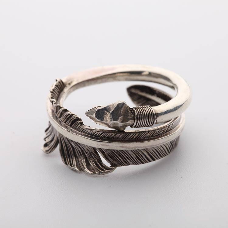Arrow ring arrow jewelry 925 sterling silver tribal for Jewelry storm arrow ring